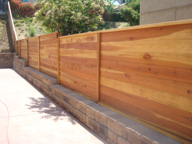 Cedar Fence Designs Horizontal